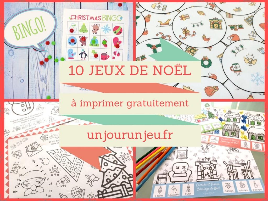 10 Activités De Noël À Imprimer Gratuitement Pour Amuser Vos serapportantà Jeux Facile Pour Petit Gratuit