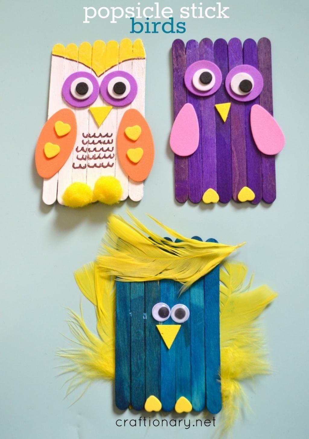 10 Adorables Bricolages À Faire Avec Des Bâtons Popsicles avec Bricolage Avec Baton De Bois
