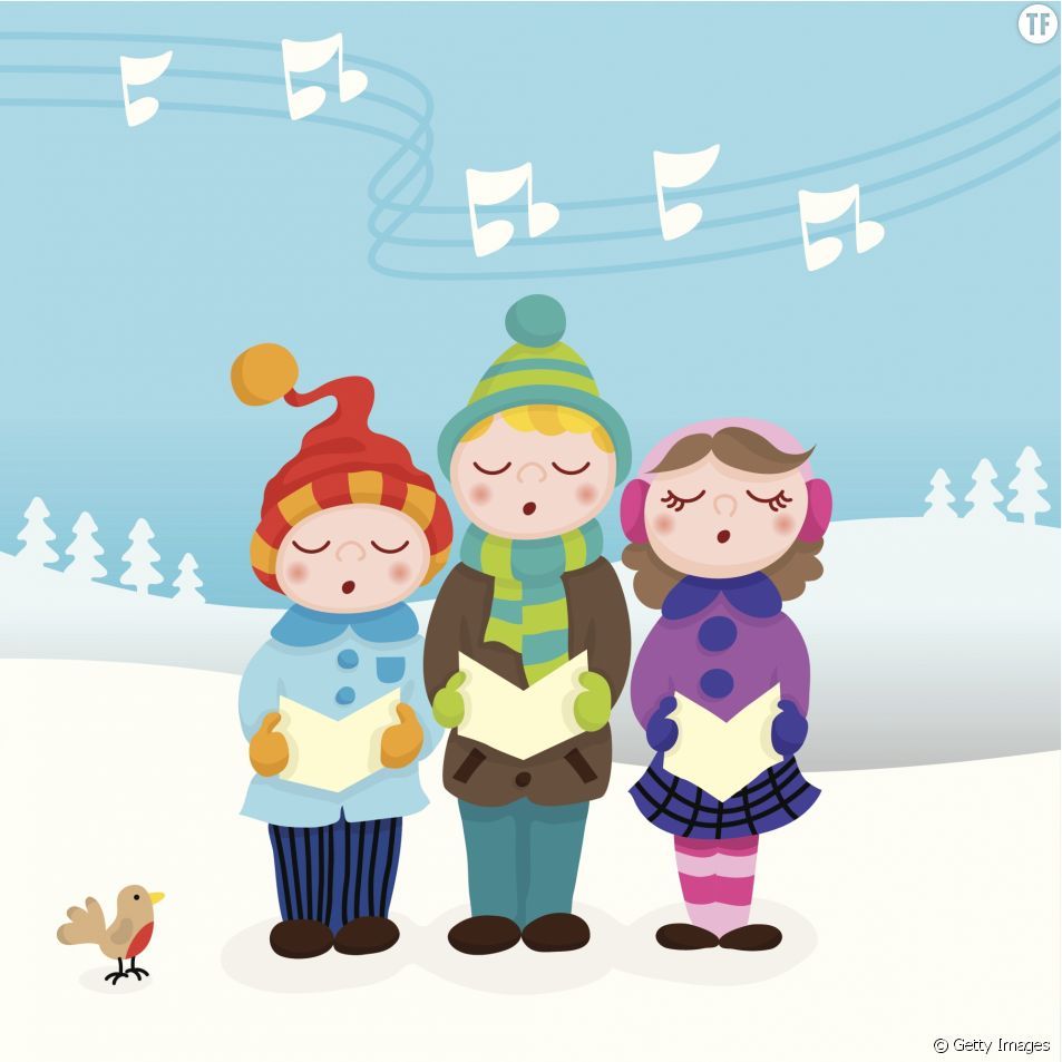 10 Comptines De Noël À Fredonner Avec Les Enfants - Terrana avec Chanson Dans Son Manteau Rouge Et Blanc