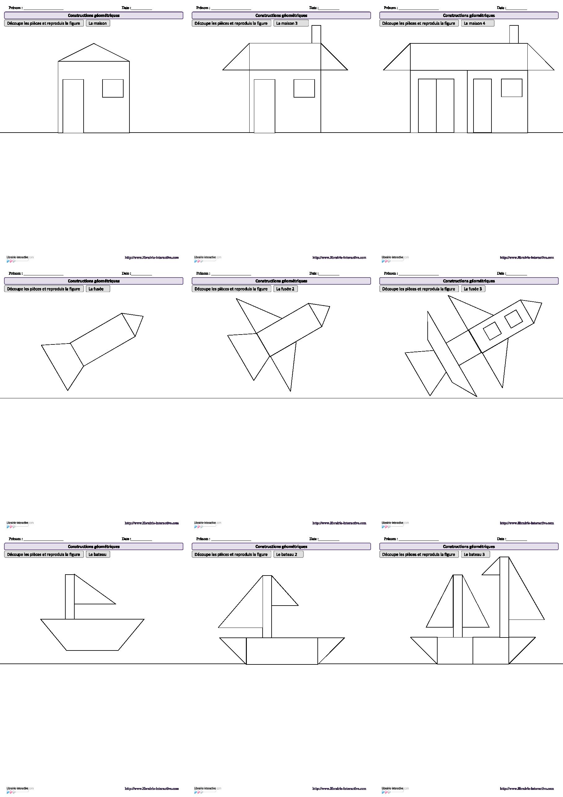 10 Dessins Amusants À Reproduire À L'aide De Figures avec Figures Géométriques Ce1