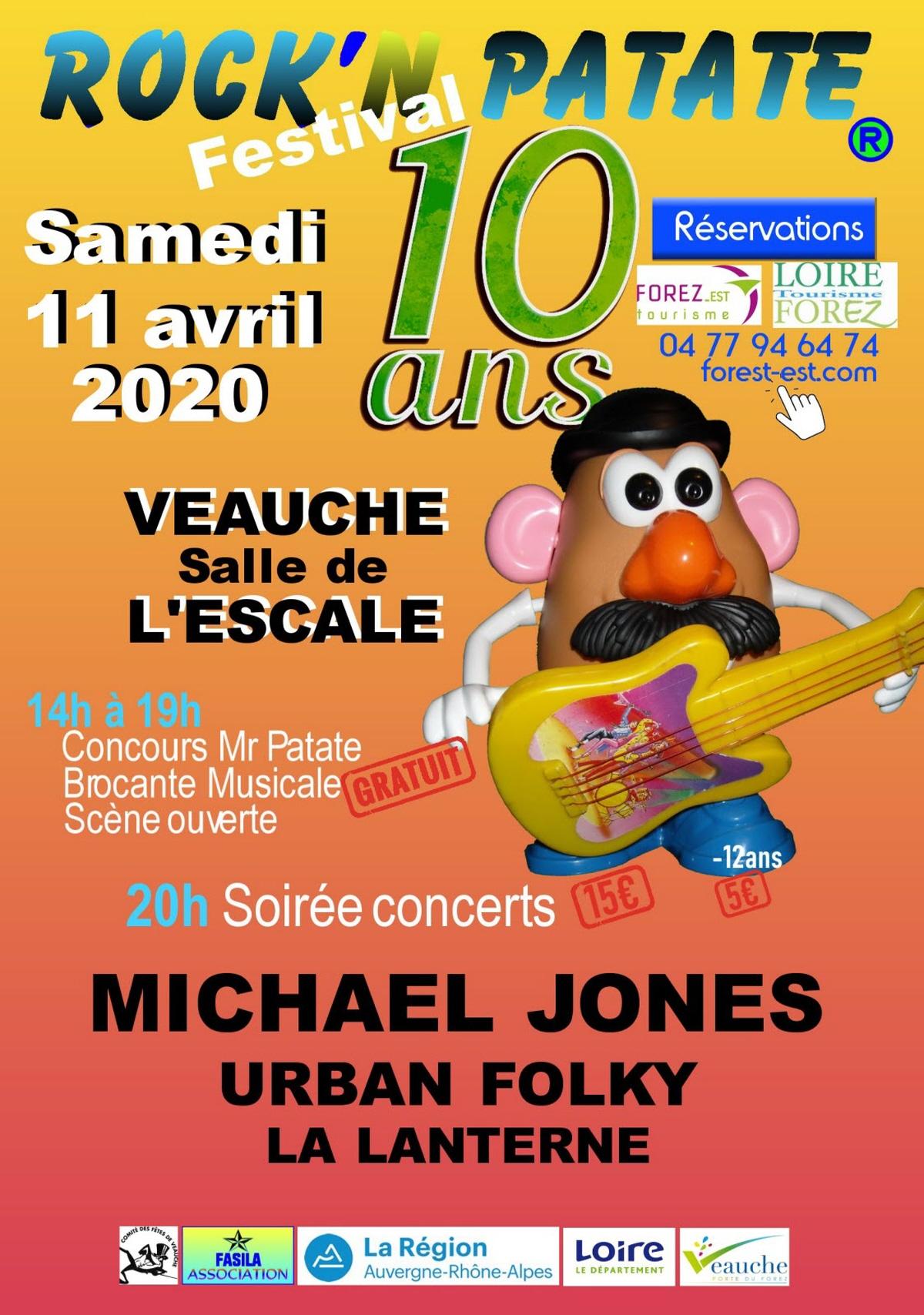 10E Festival Rock N Patate : Concert Rock A Veauche concernant Chanson De La Patate