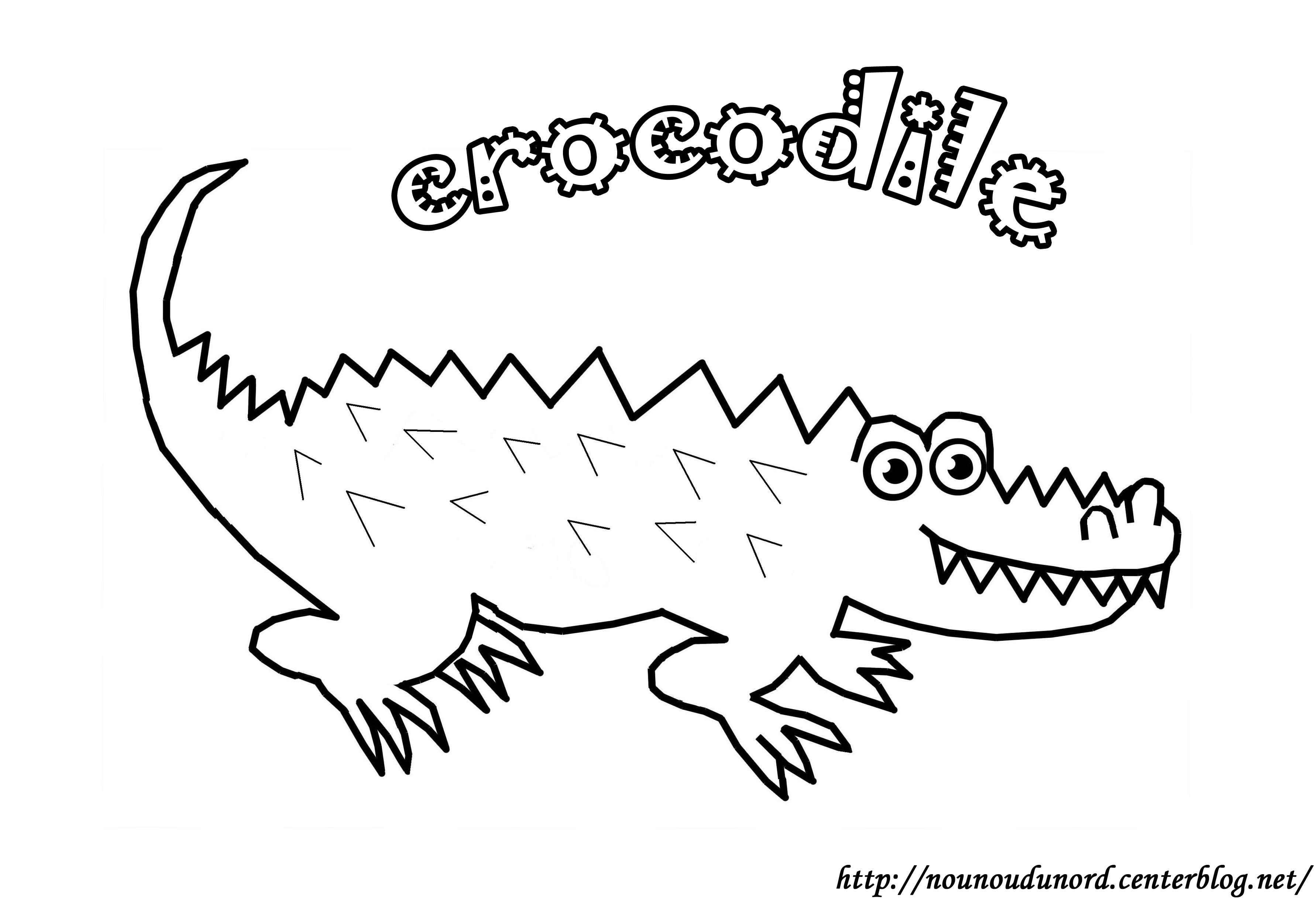 114 Dessins De Coloriage Crocodile À Imprimer concernant Photo De Crocodile A Imprimer