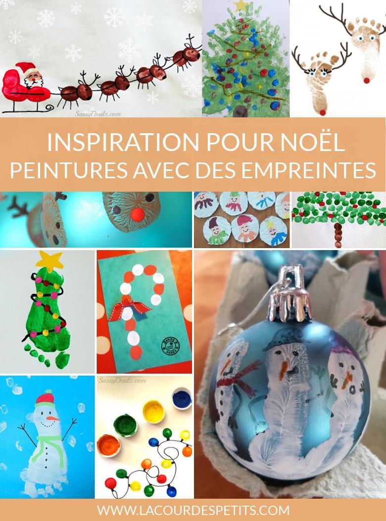 14 Peintures De Noël À Base D'empreintes |La Cour Des Petits encequiconcerne Bricolage De Noel Pour Maternelle