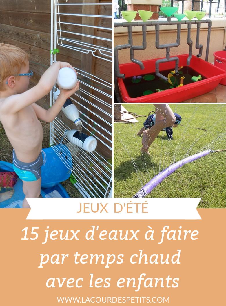 15 Idées De Jeux D'eau Pour Les Enfants |La Cour Des Petits dedans Jeux Facile Pour Petit Gratuit