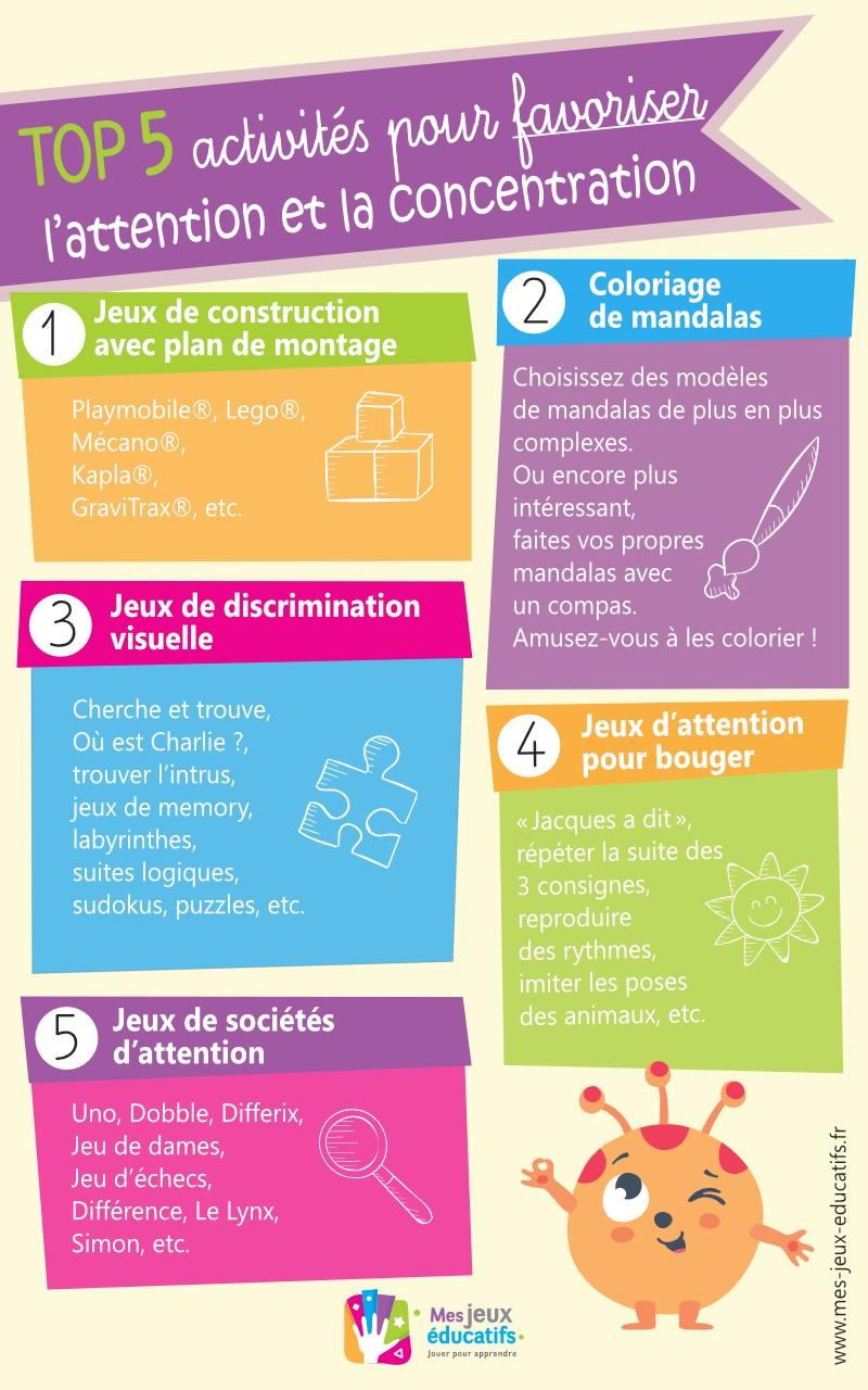 15 Jeux De Concentration Et D'attention Pour Enfants > Mes à Jeux De Concentration À Imprimer