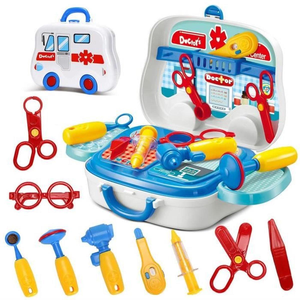 1Pcs Malette De Docteur Avec Accessoires Jeux D'imitation destiné Jeux Gratuits Pour Enfants De 3 Ans