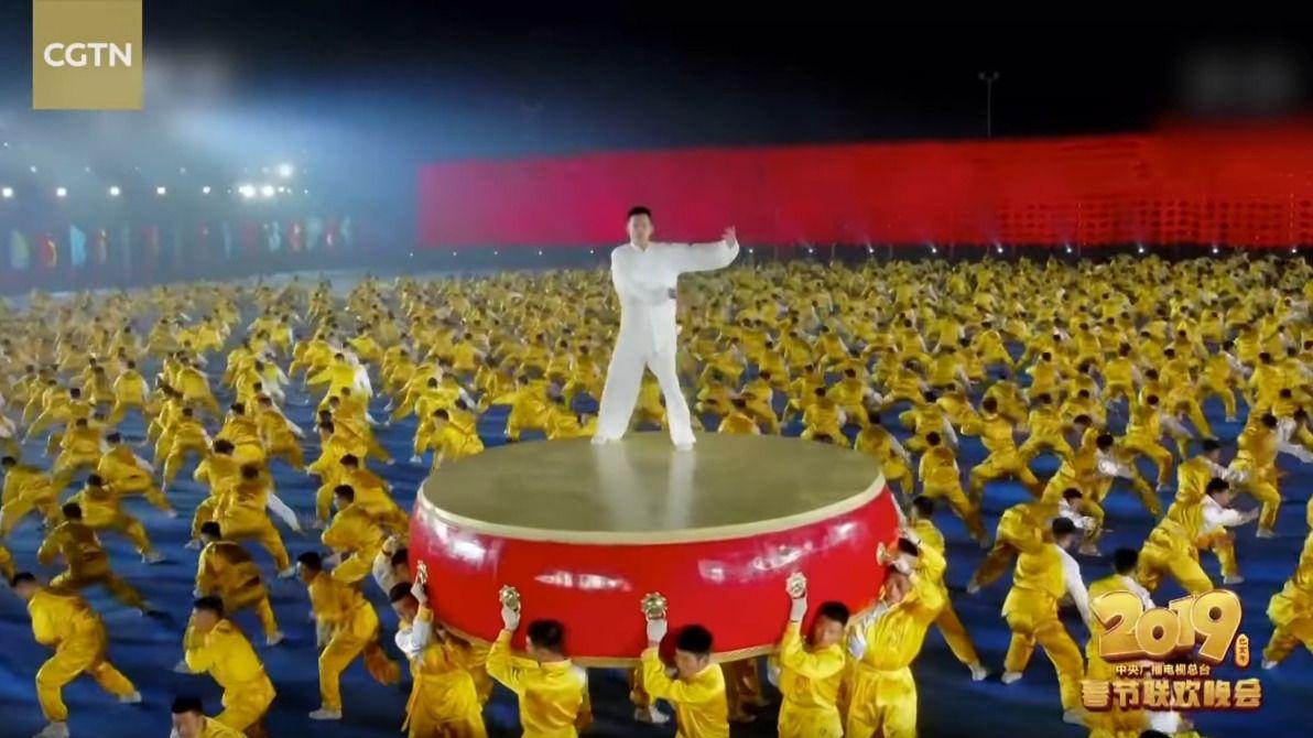 20 000 Chorégraphes Pour Le Nouvel An Chinois 2019 concernant Spectacle Danse Chinoise