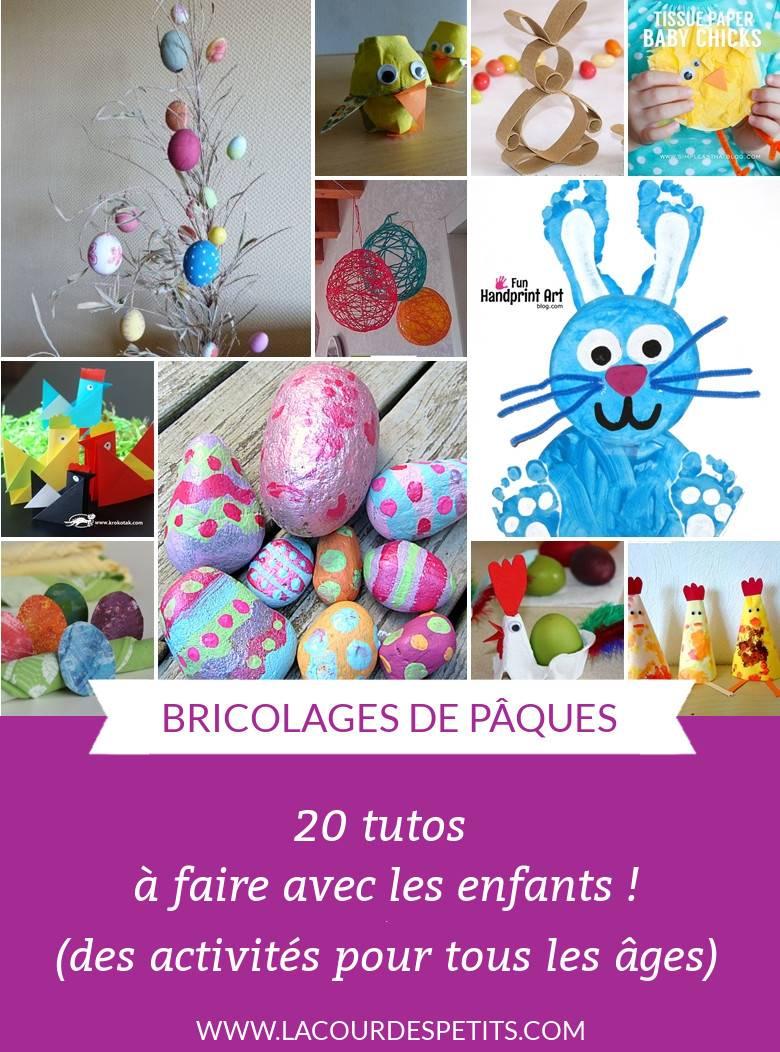 20 Bricolages De Pâques (Pour Petits Et Grands) |La Cour Des serapportantà Bricolage Pour Paques Maternelle