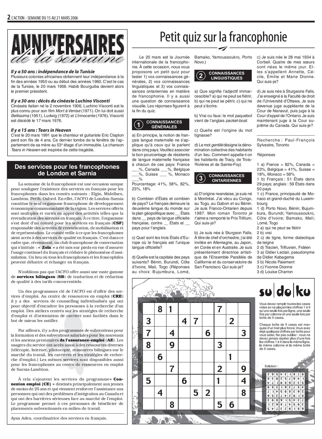 2006 03 15-Flip Book Pages 1-16 | Pubhtml5 avec Chanson Des Chiffres En Français