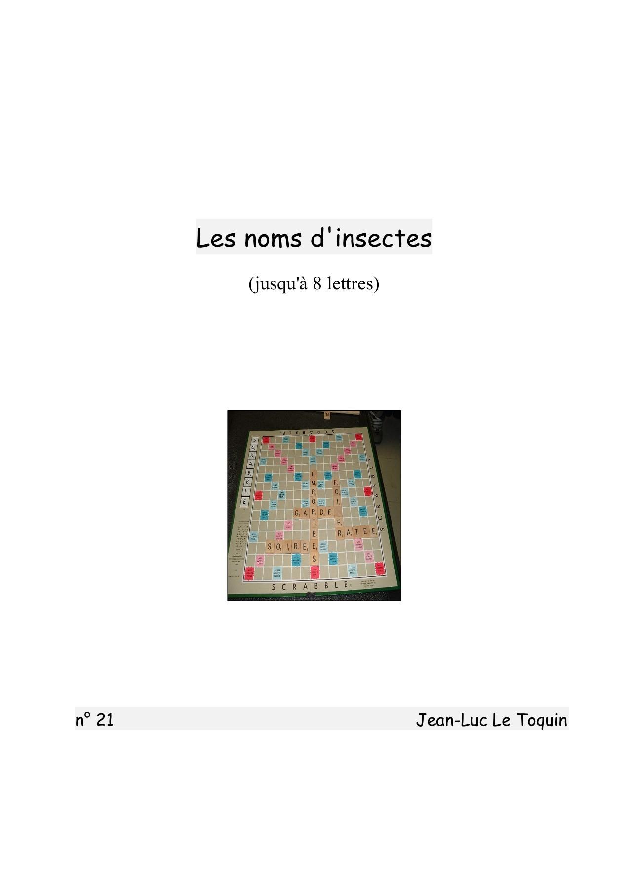 21 - Les Insectes Pages 1 - 7 - Text Version | Fliphtml5 concernant Les Noms Des Insectes
