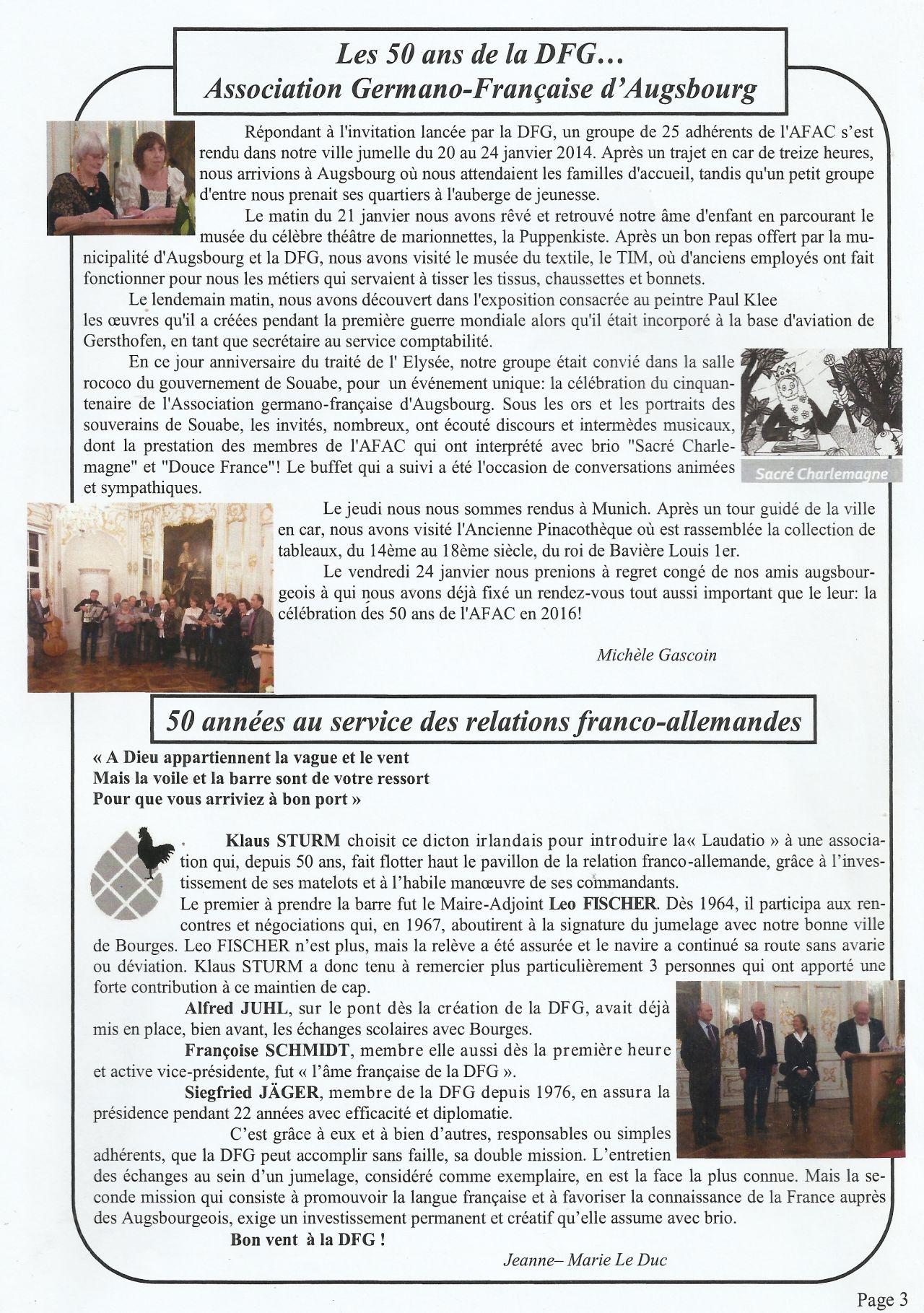 22.01.2014: 50 Jahre Deutsch-Französische Gesellschaft à Le Vent Dans Les Voiles Chanson