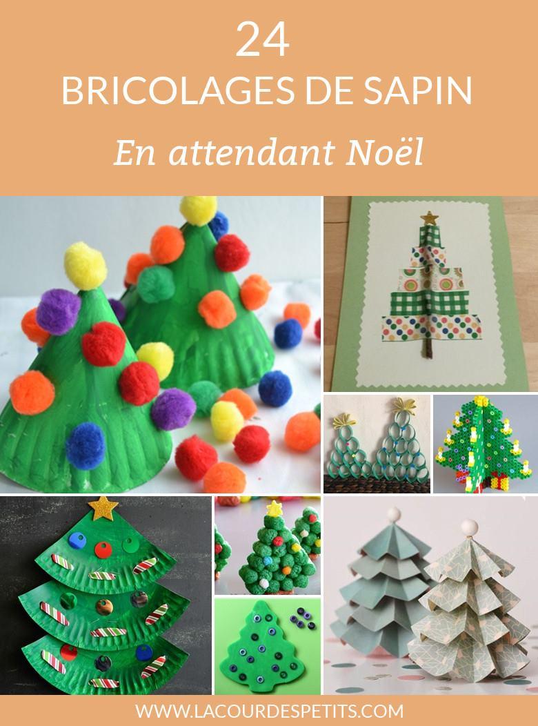 24 Activités Manuelles De Noël Autour Du Sapin |La Cour Des dedans Bricolage De Noel Pour Maternelle