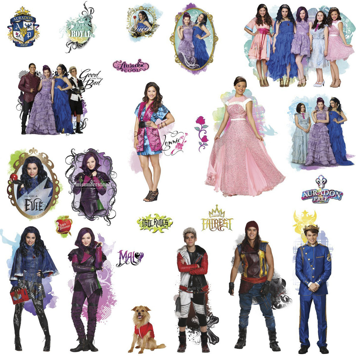 24 Stickers Personnages Les Descendants Disney tout Descendants Personnages