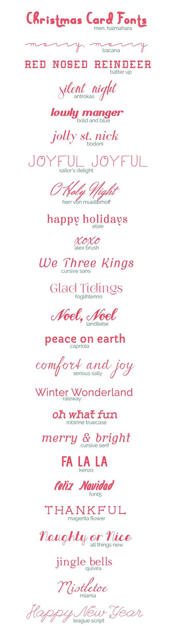 25 Free Christmas Card Fonts | Scrap | Lettering, Carte De à Police Ecriture Noel