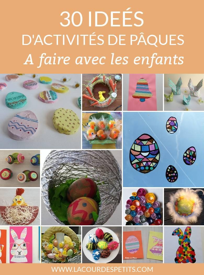 30 Activités De Pâques Pour S'inspirer |La Cour Des Petits destiné Bricolage Pour Paques Maternelle