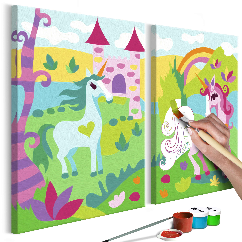 33X23 Tableau À Peindre Par Soi-Même Kits De Peinture Pour pour Tableau De Peinture Pour Enfant