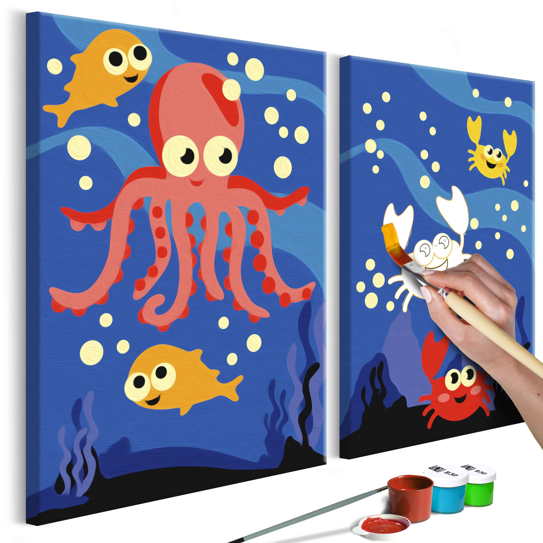 33X23 Tableau À Peindre Par Soi-Même Kits De Peinture Pour serapportantà Tableau De Peinture Pour Enfant