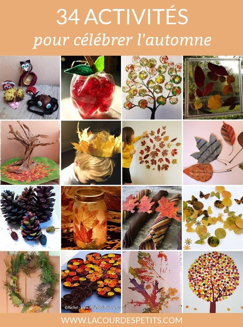 34 Bricolages D'automne À Faire Avec Les Enfants |La Cour tout Idées Activités Tap Primaire
