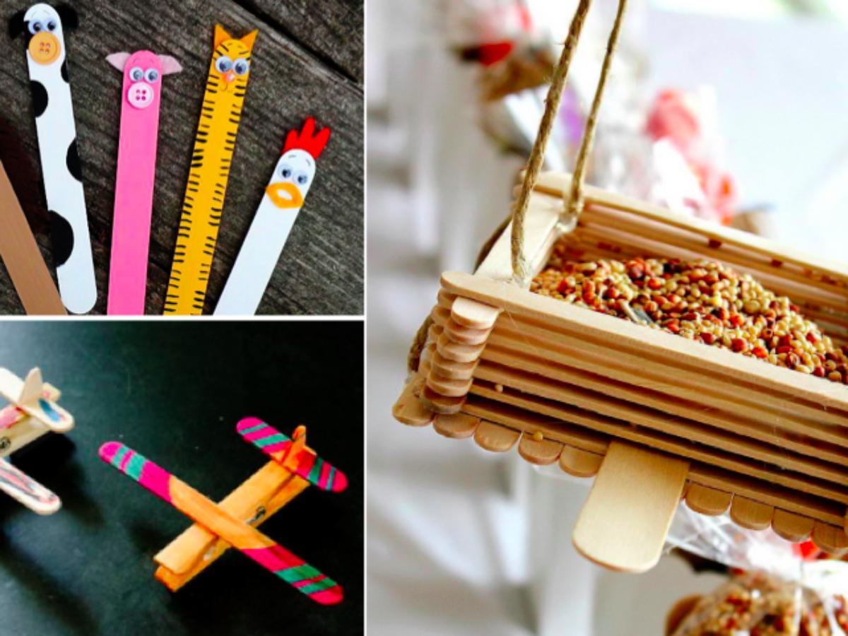 35 Idées De Bricolages Avec Des Bâtonnets D'esquimaux avec Bricolage Avec Baton De Bois