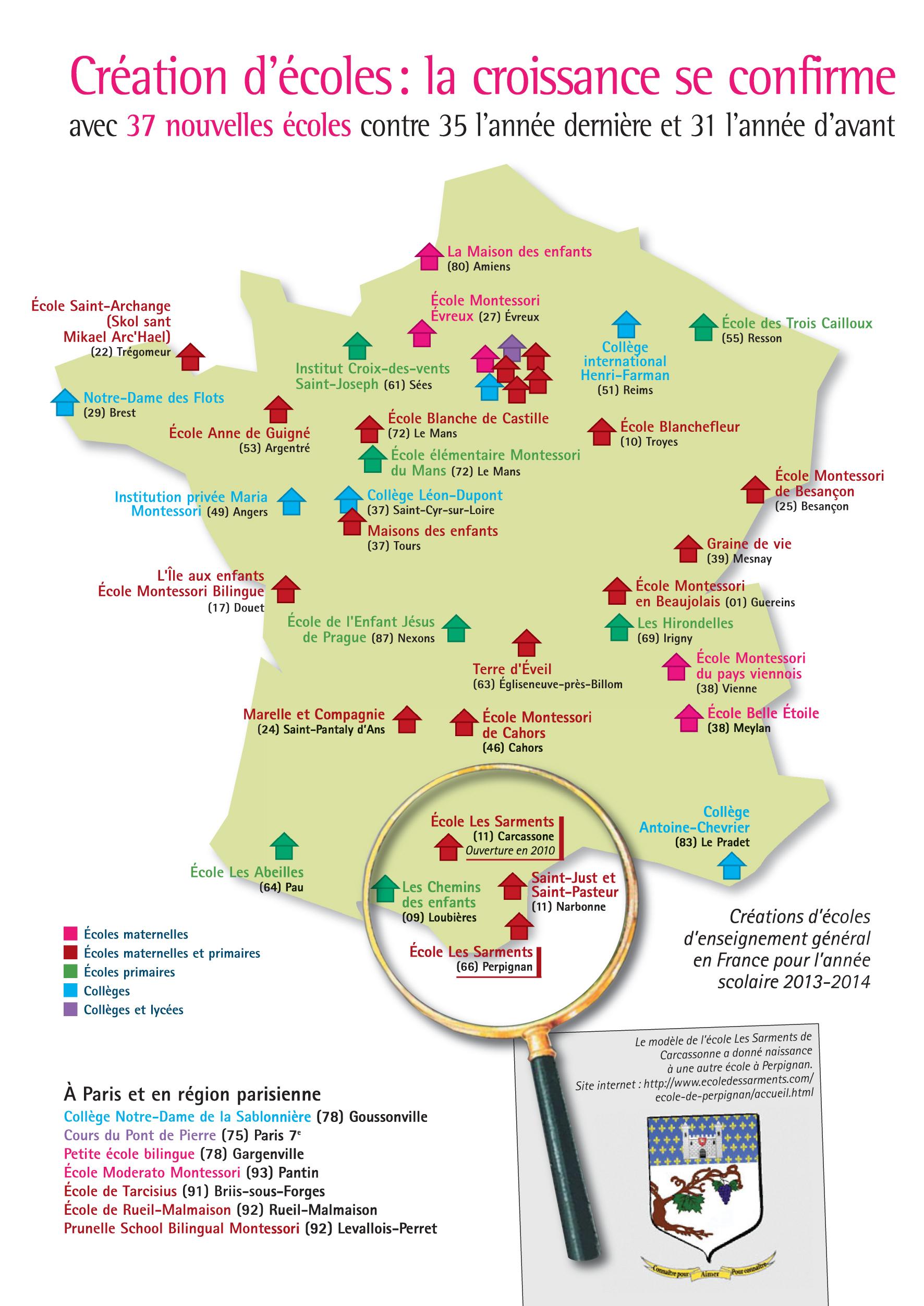 37 Écoles Indépendantes Créées Cette Année ! – Le Blog De La serapportantà Carte De France Pour Les Enfants