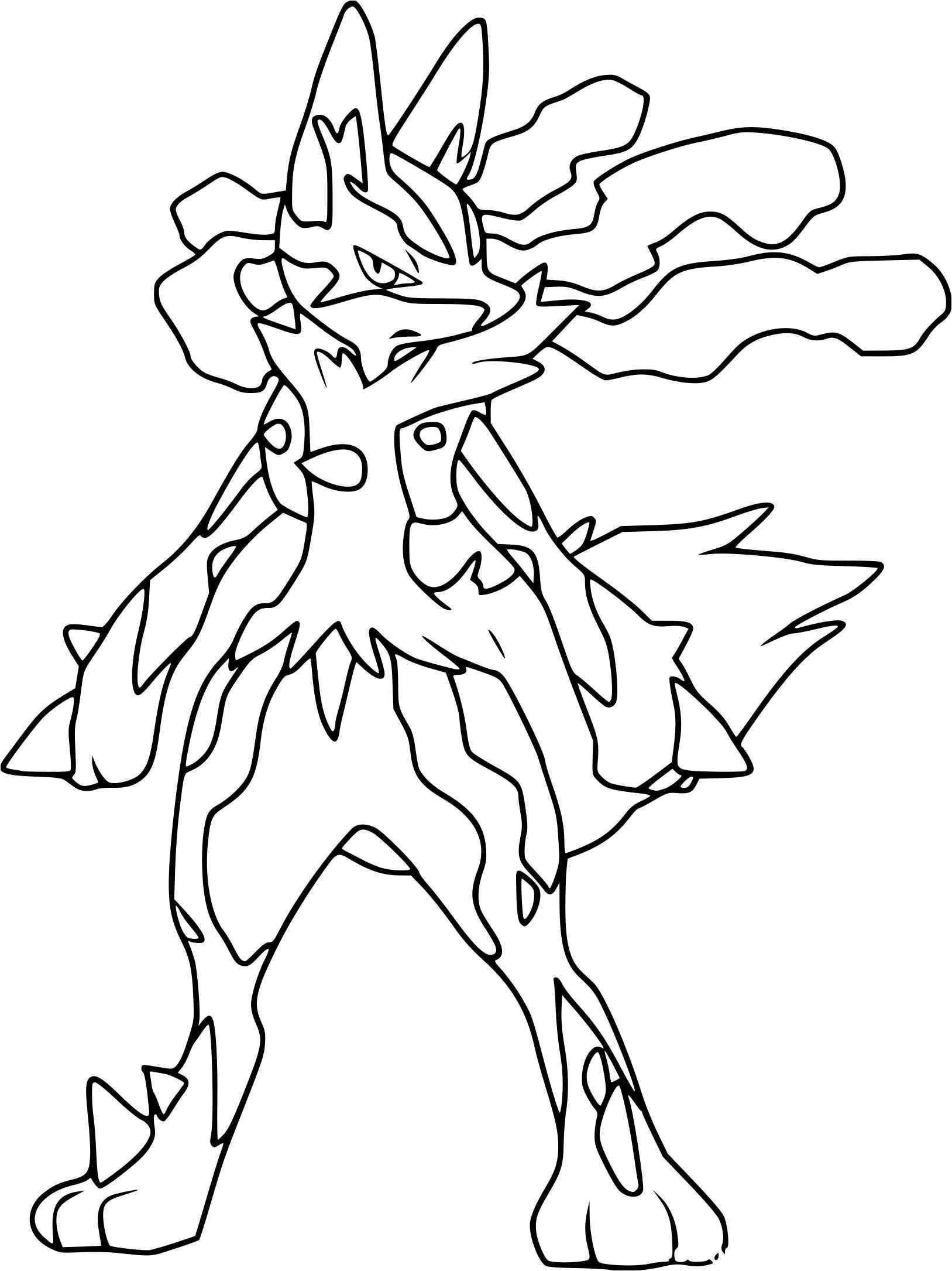 39 Dessins De Coloriage Pokemon Mega Evolution À Imprimer à Imprimer Coloriage Pokemon
