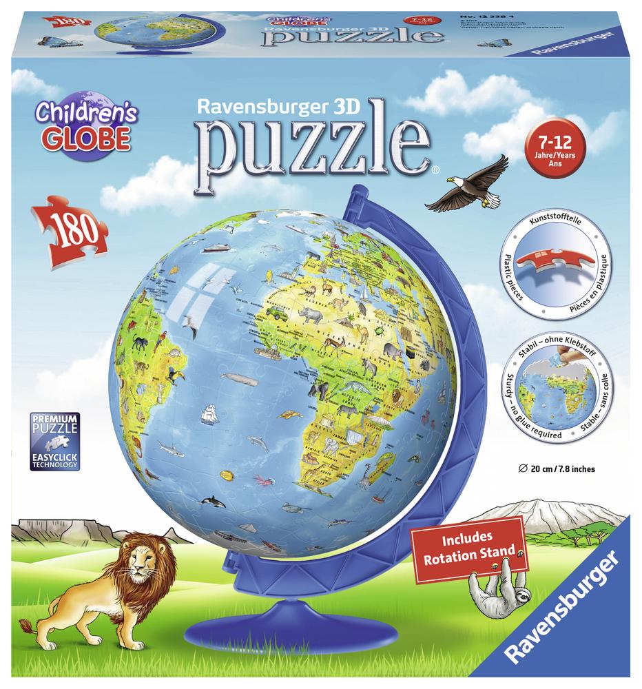 3D Puzzle Globe Enfants Anglais, 180 Pièces   Acheter En intérieur Puzzle En Ligne Enfant