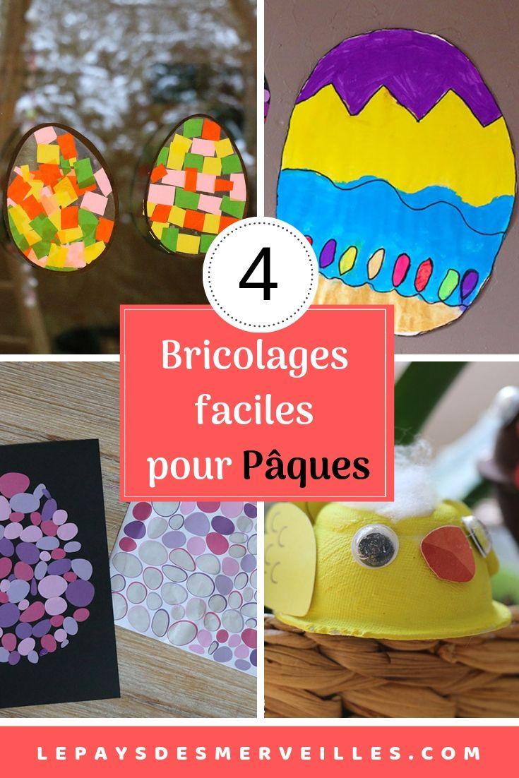 4 Activités Faciles Pour Pâques | Bricolage Paques tout Bricolage Pour Paques Maternelle