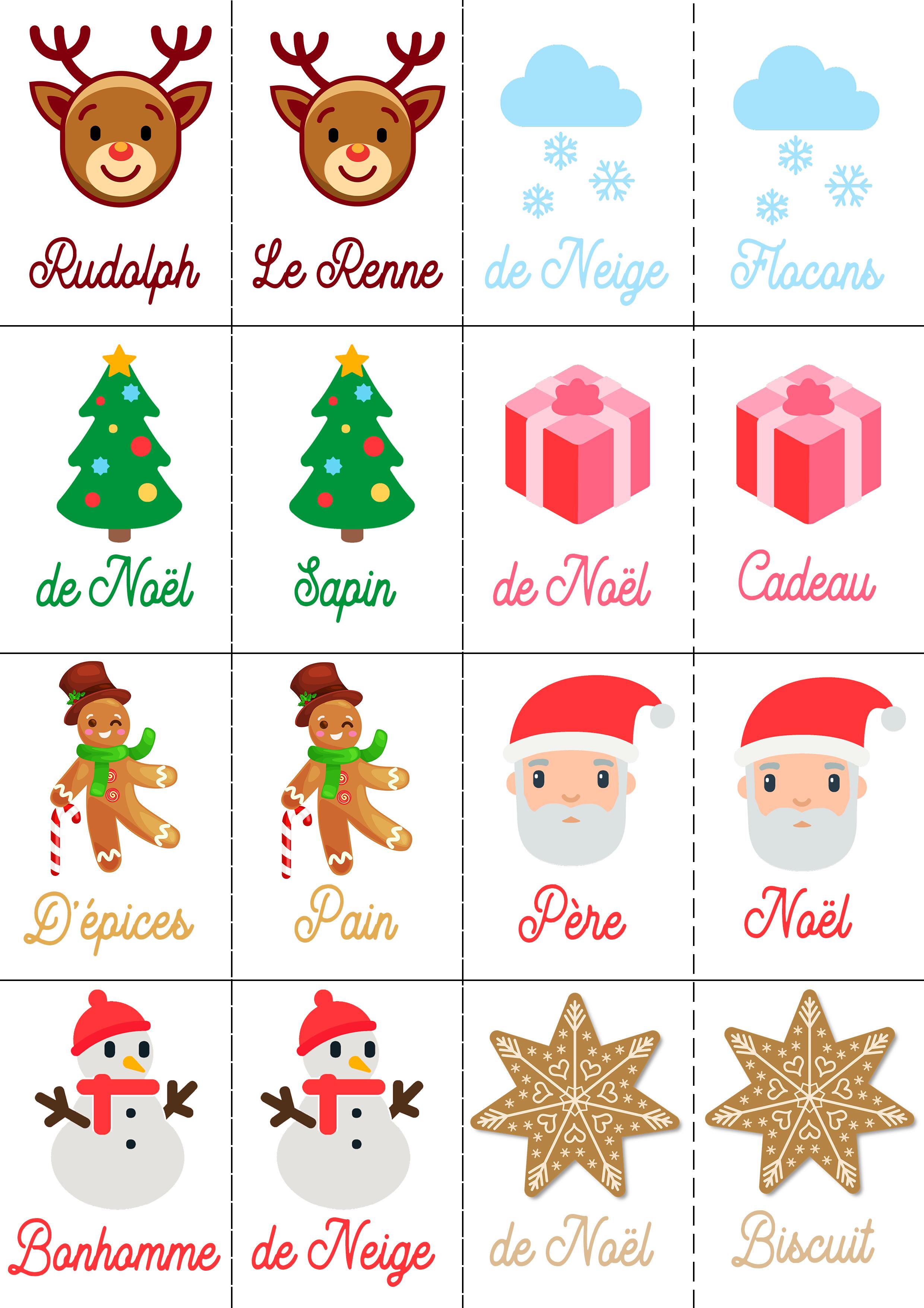 4 Jeux De Noël Pour Petits Et Grands À Imprimer Gratuitement encequiconcerne Jeux De Memoire Enfant