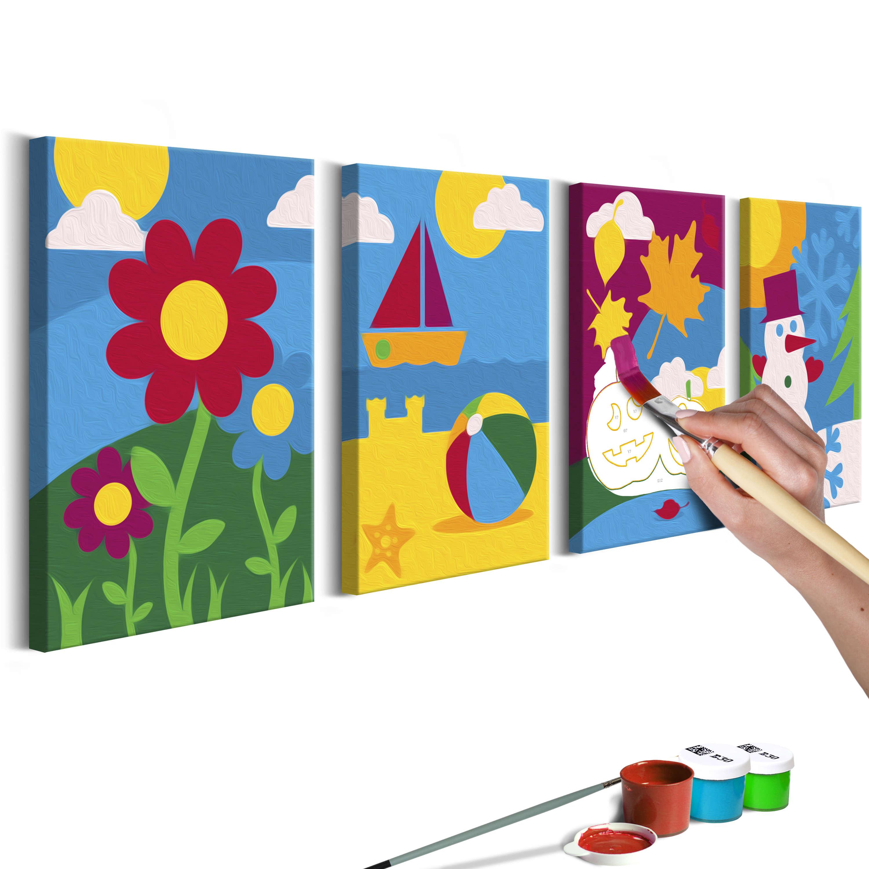 44X16.5 Tableau À Peindre Par Soi-Même Kits De Peinture Pour concernant Tableau De Peinture Pour Enfant
