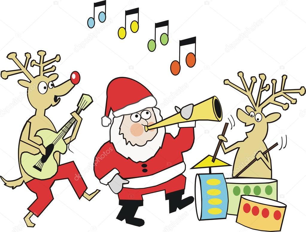 50++ Cliparts | L Instrument De Marine Jean Reindeer Clipart intérieur Musique Du Père Noël