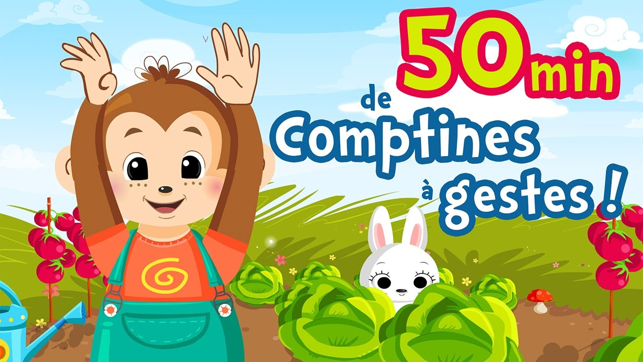 50Min Of French Nursery Rhymes With Gesture For Kids And Babies (A Green  Mouse, My Donkey) intérieur Chanson Pour Bebe 1 An