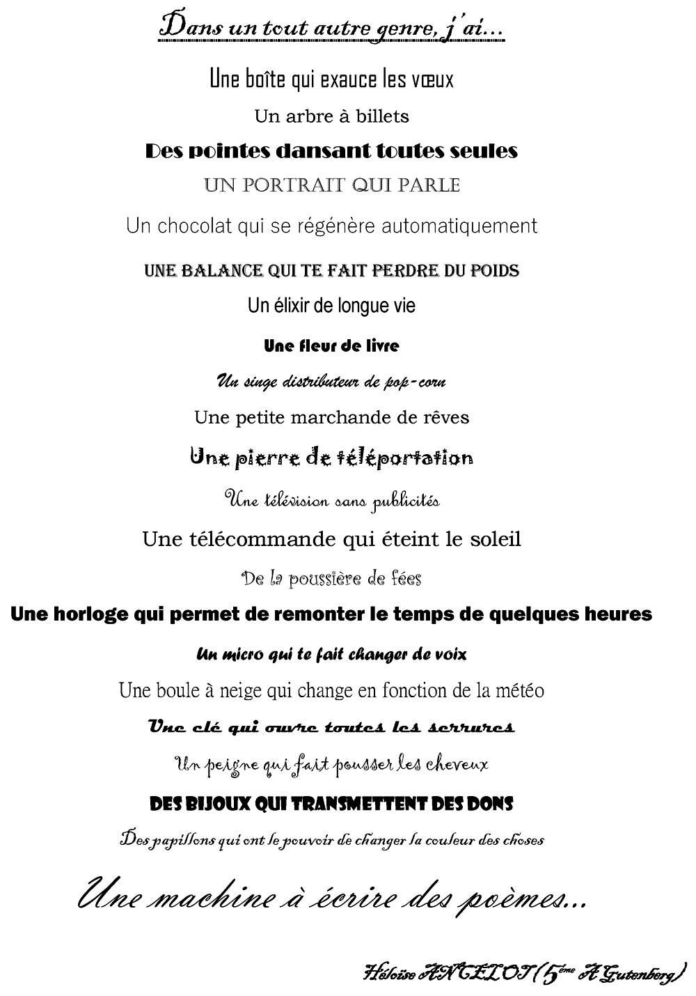 5Ème A Gutenberg – Invre À La Prévert (Mai 2018) | à Poeme De Jacque Prevert