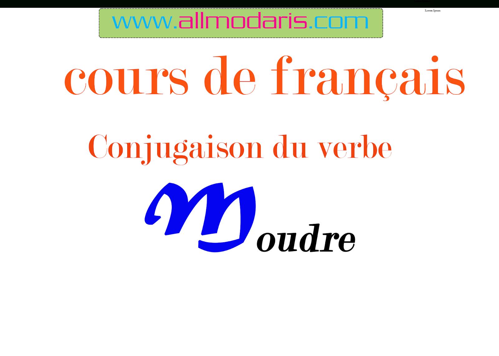 75:la Conjugaison Du Verbe Moudre A Tous Les Temps | المدرس avec Verbe Moudre À L Imparfait