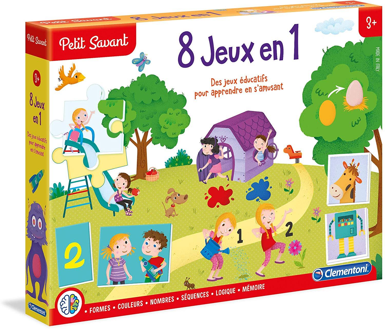 8 Jeux En 1 - Clementoni Petit Savant encequiconcerne Jeux Educatif 3 Ans