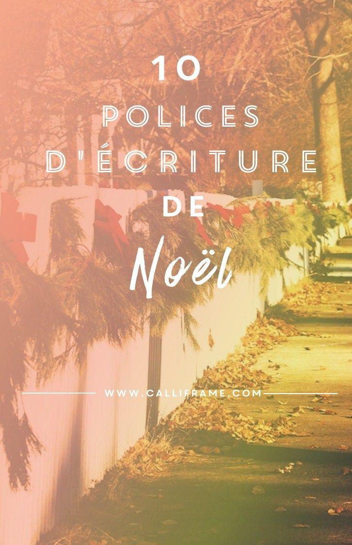 8 Polices D'écriture Effet Brush | Police, Écriture De Noël tout Police Ecriture Noel