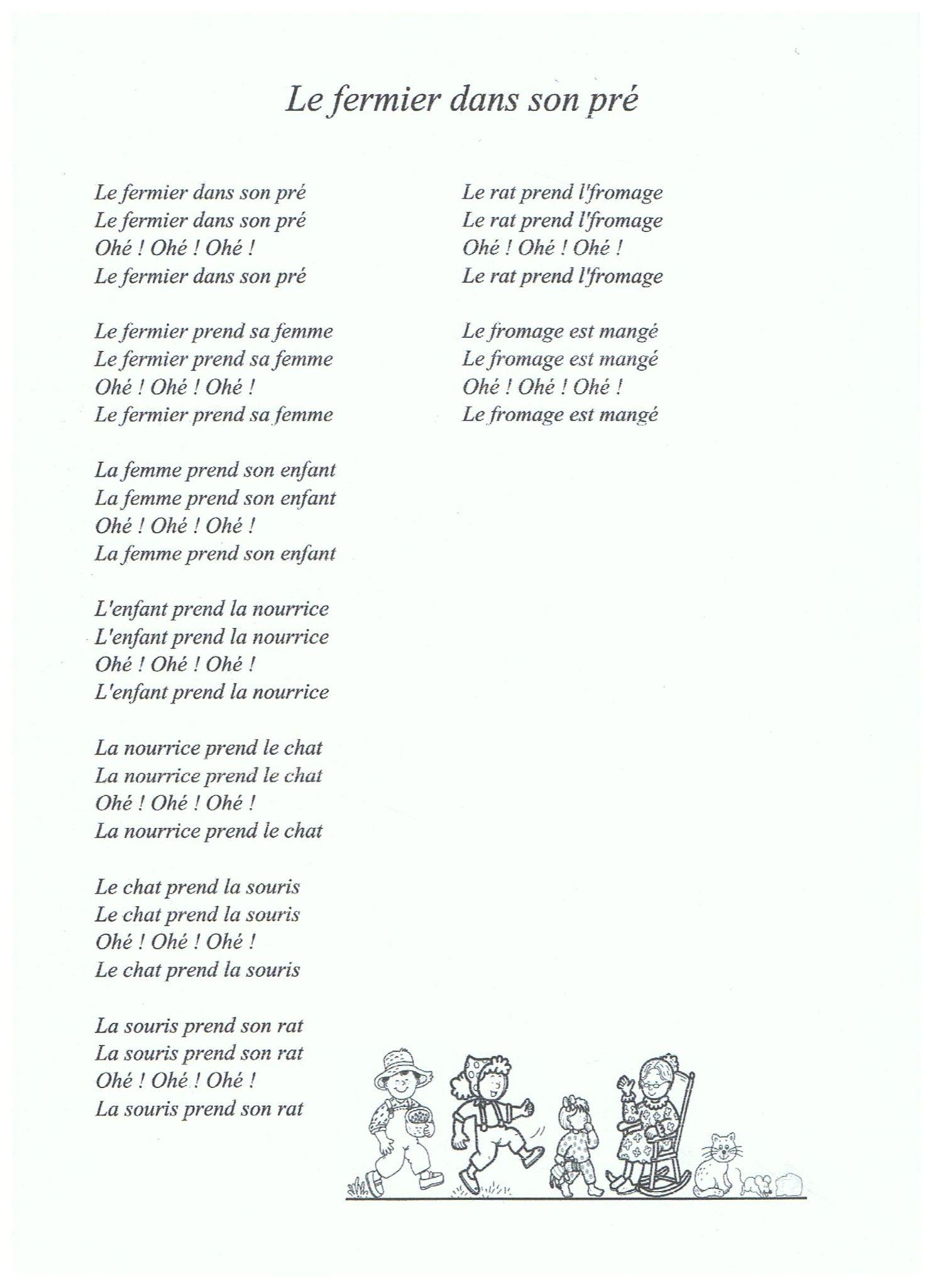 9.3 - Chansons Et Comptines De La Ferme - Album Photos - Dam encequiconcerne Chanson A Imprimer