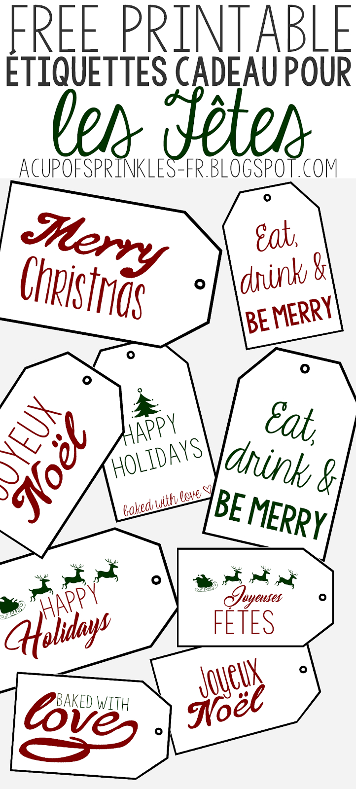 À Imprimer : Etiquettes De Noël Pour Cadeaux Gourmands | A concernant Etiquette Noel A Imprimer