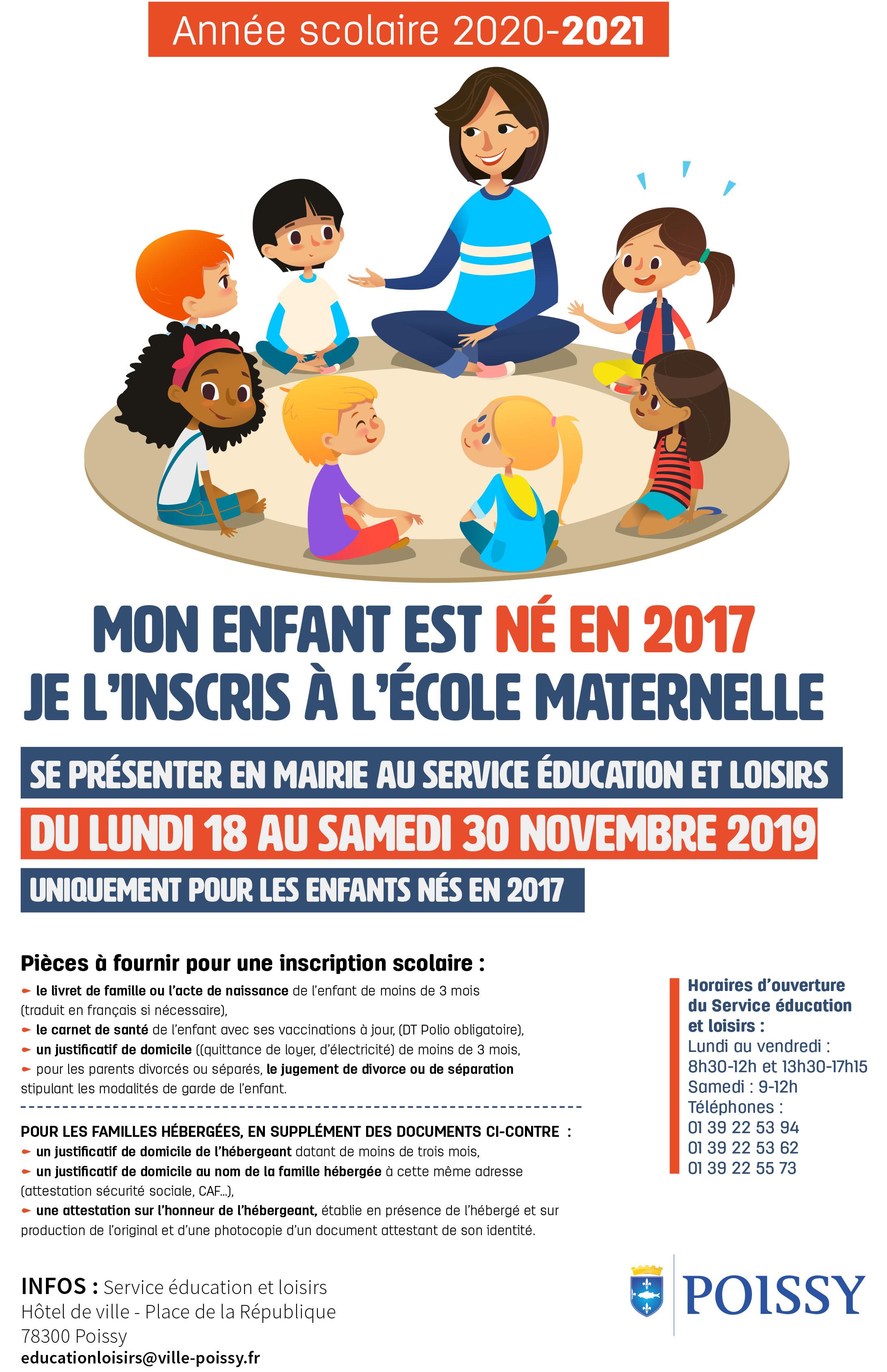 À L'école - Ville De Poissy pour Grande Section Maternelle Age
