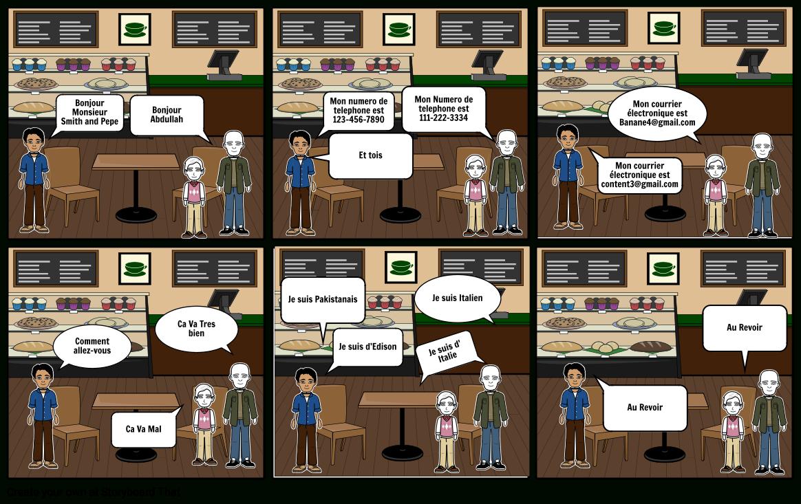 Abdullah Storyboard By 3000916 tout Bonjour Monsieur Comment Ca Va