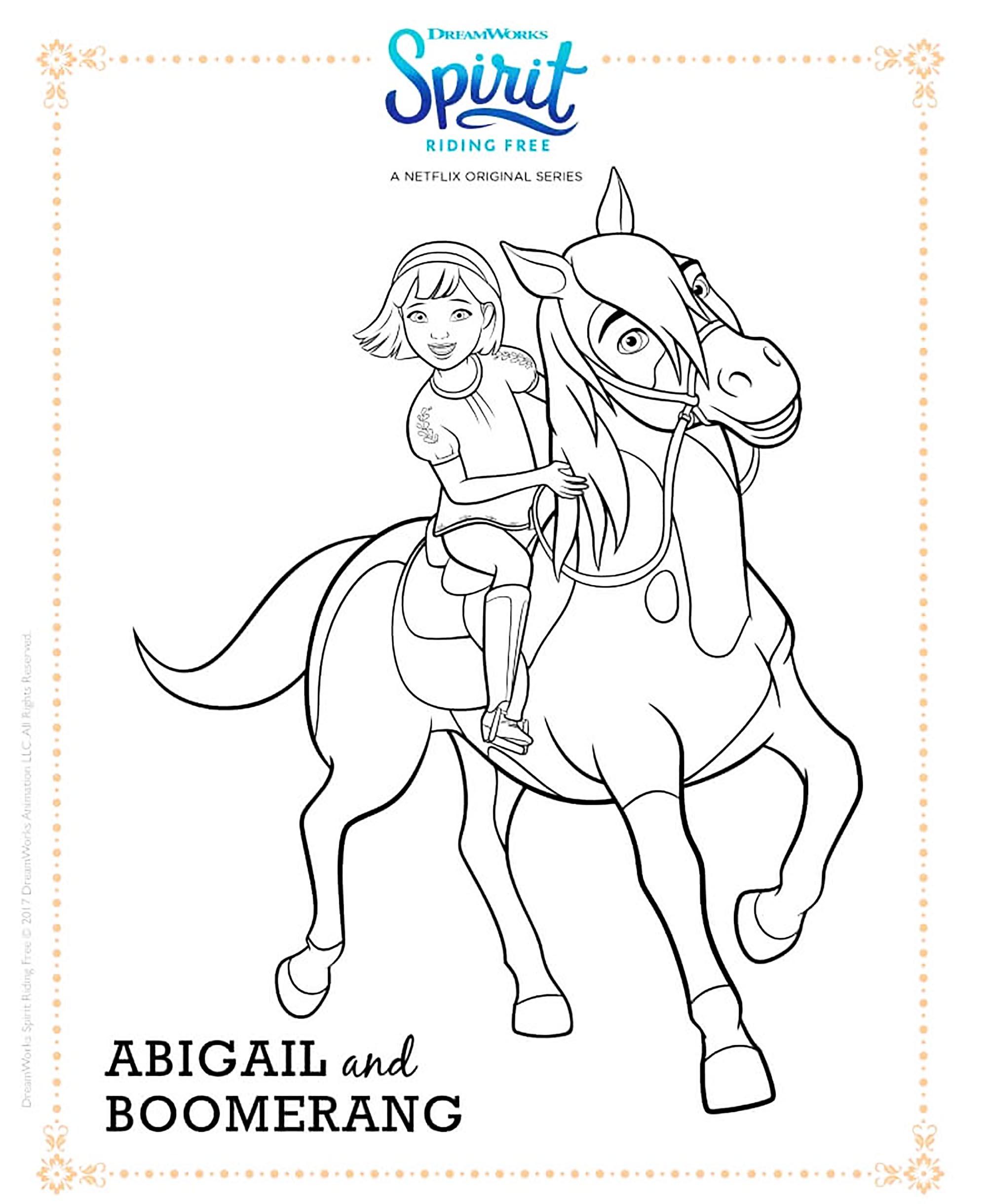 Abigail & Boomerang - Coloriage Spirit - Coloriages Pour Enfants serapportantà Zou Coloriage