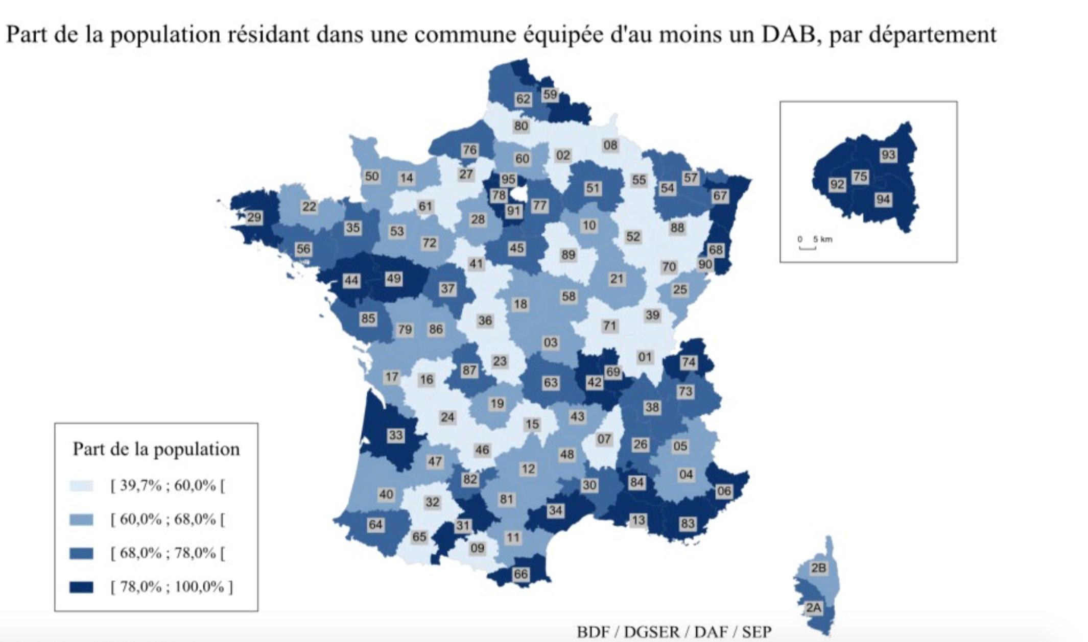 Accès Au Cash : La Carte Des Dab En France Révèle Les destiné Carte Numero Departement