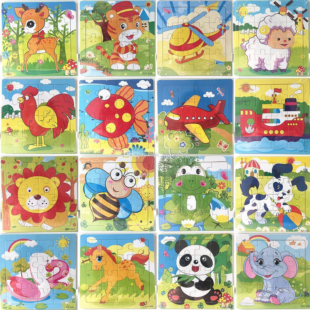 Acheter 16 Pièces En Bois Puzzle Maternelle Bébé Jouets Enfants Animaux  Bois 3D Puzzles Enfants Building Blocks Drôle Jeu Jouets Éducatifs C5351 De tout Puzzle Gratuit Enfant