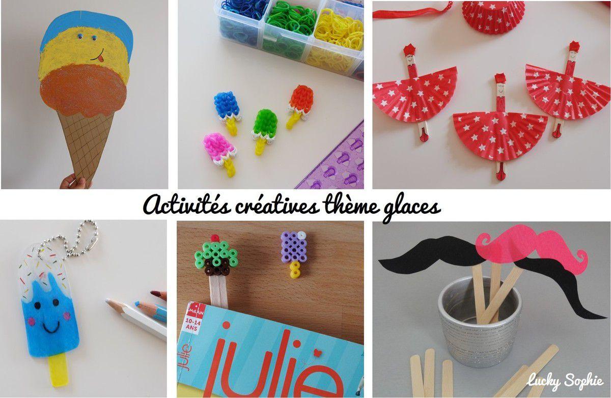 Activités Créatives Thème Glaces - Lucky Sophie, Blog Maman avec Idées Activités Tap Primaire