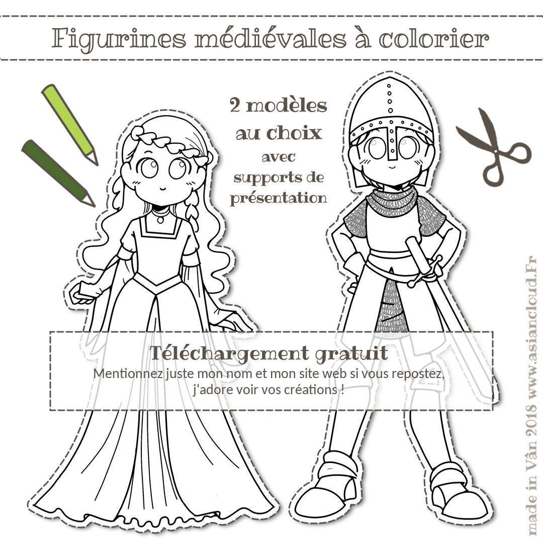 Activités Gratuites : Spécial Confinement Covid-19, Dessin pour Coloriage Manga Kawaii