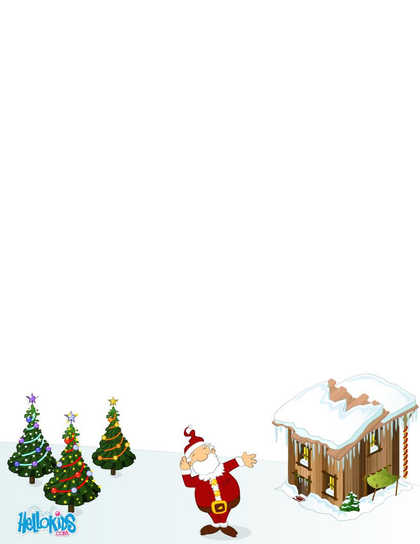 Activités Manuelles Modèles De Lettre Au Père Noël À intérieur Liste Pere Noel Imprimer