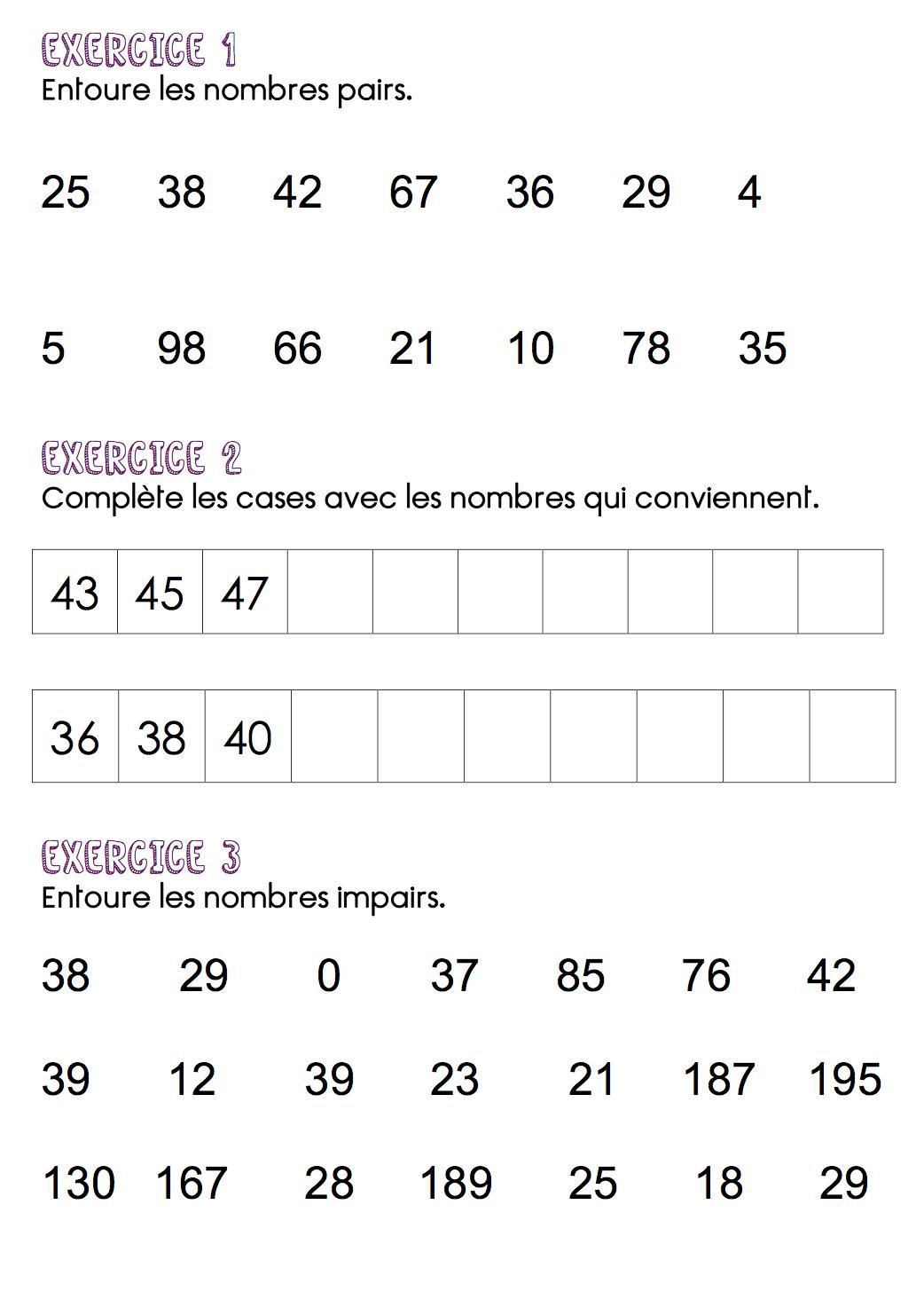 Adrienroussey | Zéro De Conduite encequiconcerne Nombres Pairs Et Impairs Ce2