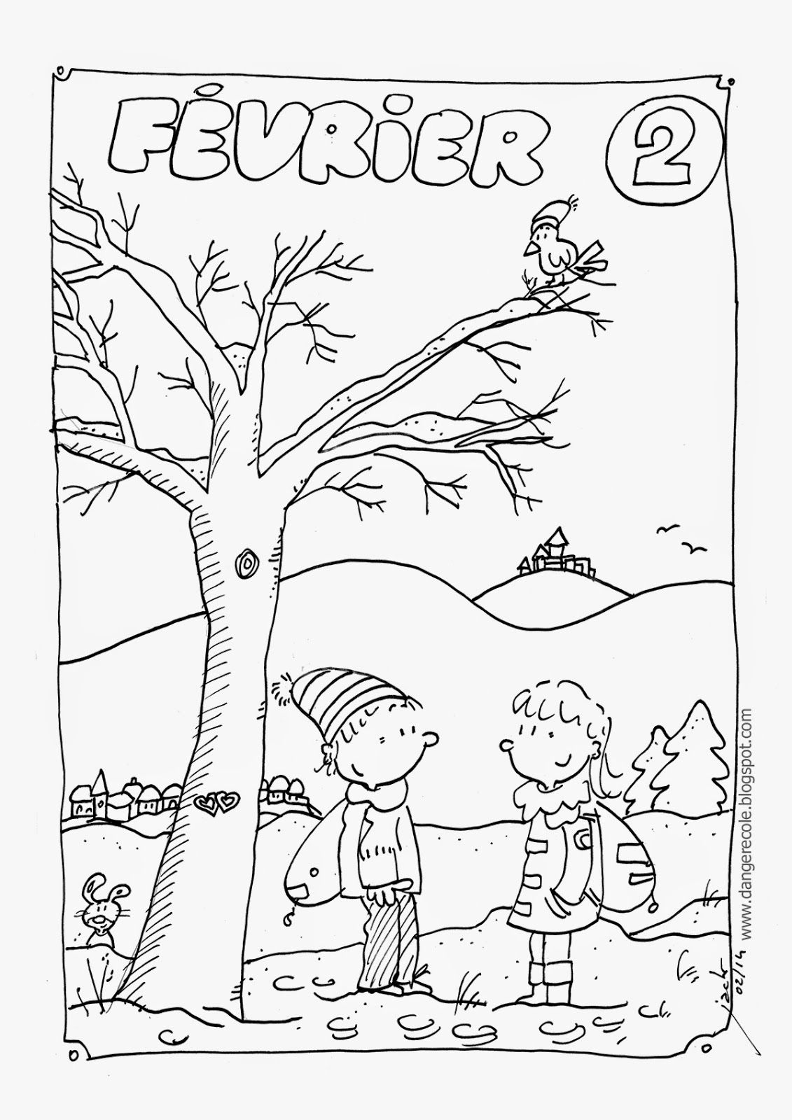 Affichages Utiles En Vrac (Avec Images) | Coloriage Janvier tout Coloriage Février
