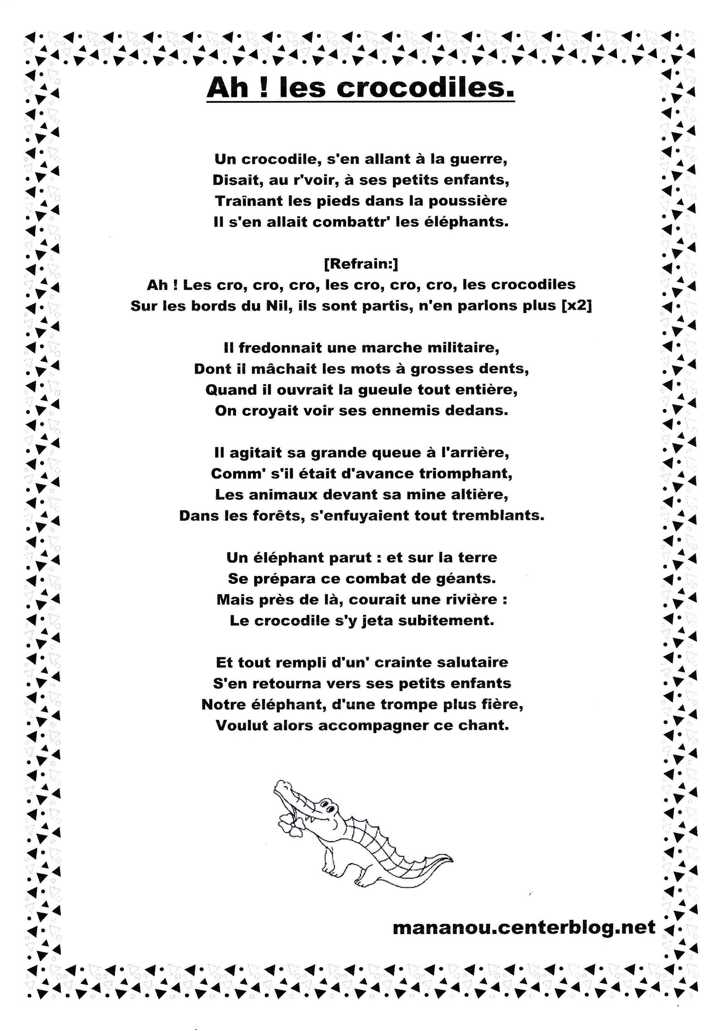 Ah Les Crocodiles destiné Ah Les Cro