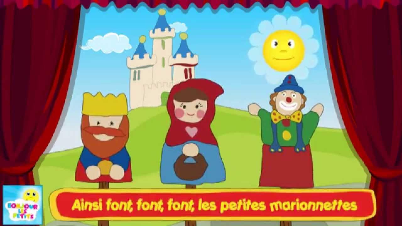 Ainsi Font Font Font Les Petites Marionnettes - Chanson Pour Les Enfants destiné Les Petites Marionnettes Chanson