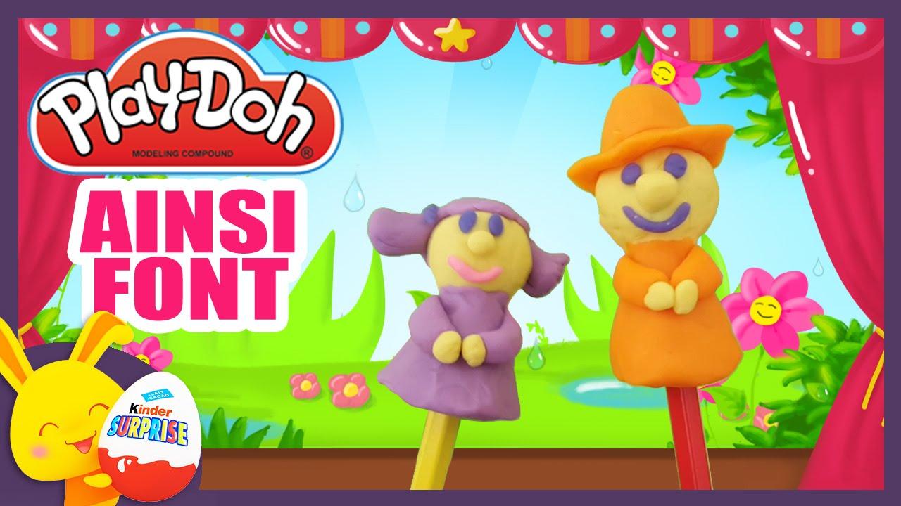 Ainsi Font Font Font Les Petites Marionnettes - Comptine En Pâte À Modeler  Play-Doh à Les Petites Marionnettes Chanson